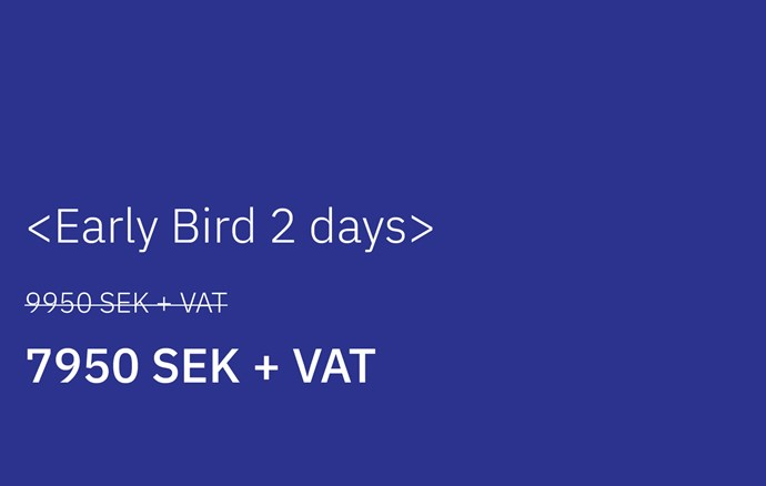Early Bird - 2 days