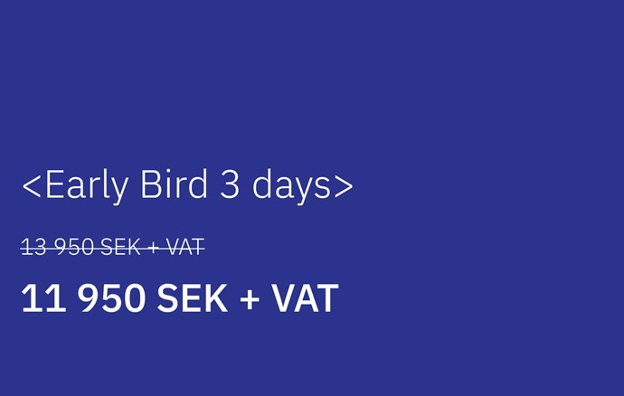Early Bird - 3 days